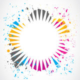 Colorful grunge splash background Stock Images