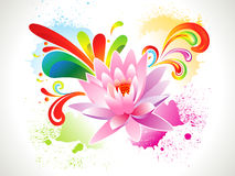 Abstract colorful grungy lotus background Stock Photos