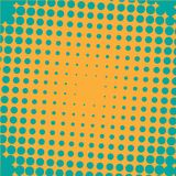 Abstract colorful halftone dots horizontal vector. Illustration Stock Image