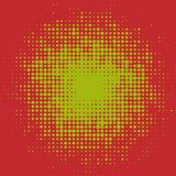 Abstract colorful halftone dots horizontal vector. Illustration Stock Photos