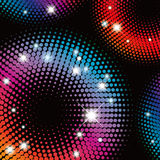Abstract  colorful Halftone illustration pattern Royalty Free Stock Images