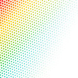 Abstract colorful halftone, minimalistic background from dots. Comic style backdrop, gradient halftone pop-art retro stock illustration
