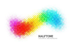 Abstract colorful halftone vector background Stock Image