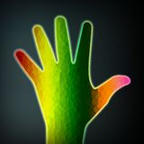 Abstract colorful hand Stock Images