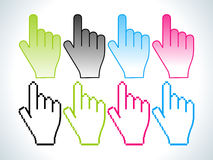 Abstract colorful hand icon Royalty Free Stock Photography