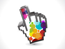 Abstract colorful hand icon Royalty Free Stock Photo
