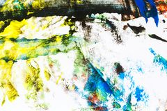 Abstract colorful hand painted background Stock Photography