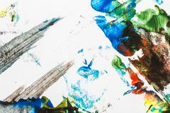 Abstract colorful hand painted background Stock Photo