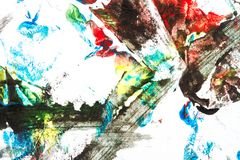 Abstract colorful hand painted background Royalty Free Stock Photo