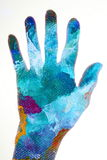 Abstract colorful hand painting Stock Photo