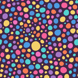 Abstract Colorful Hand Sketched Circles Seamless Background Pattern Stock Image
