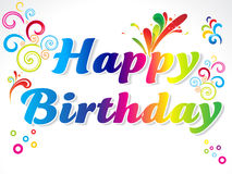 Abstract colorful happy birthday card Stock Photo