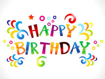 Abstract colorful happy birthday Royalty Free Stock Images