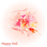 Abstract colorful Happy Holi background. Design for Indian Festival of Colours. Stock Photo