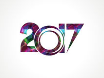 Abstract colorful happy new year background. Vector illustration Royalty Free Stock Photo