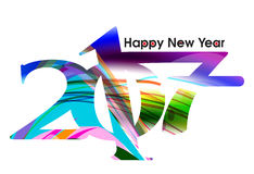 Abstract colorful happy new year text background. Vector illustration Stock Images