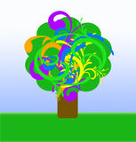 Abstract colorful happy tree Stock Photos
