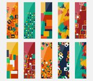 Abstract colorful header set vector design. Royalty Free Stock Photo