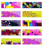 Abstract colorful header set vector design. Abstract various 10 colorful header set collection vector design. EPS10 organized in groups for easy editing Stock Image