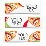 Abstract colorful headers or banners set. Vector ornamental elements Royalty Free Stock Photography