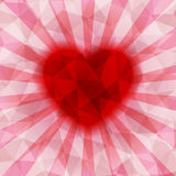 Abstract colorful heart background Stock Image