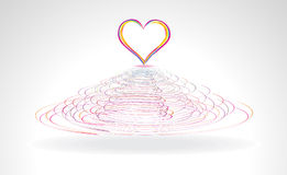 Abstract colorful heart in cercal. Vector illustration Royalty Free Stock Photography