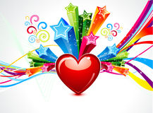 Abstract colorful heart explode Royalty Free Stock Images