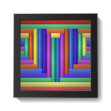 Abstract Colorful Heart in Frame Stock Photography
