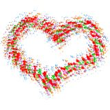 Abstract colorful heart Royalty Free Stock Photography