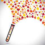 Abstract colorful heart symbols created from test. Tube. This vector graphic also represents valentines day, unlimited, love, unconditional love, infinite love Stock Photos