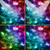 Abstract colorful hearts. Set of abstract colorful hearts background vector illustration