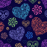Abstract colorful  hearts Royalty Free Stock Image