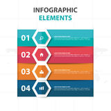 Abstract colorful Hexagon business Infographics elements, presentation template flat design vector illustration for web design. Marketing advertising royalty free illustration