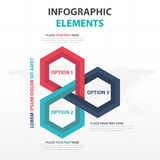 Abstract colorful hexagon business Infographics elements, presentation template flat design vector illustration for web design. Marketing advertising vector illustration