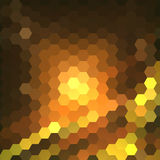 Abstract colorful hexagons background Stock Photography