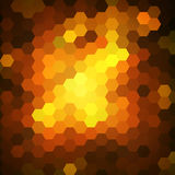 Abstract colorful hexagons background Royalty Free Stock Photo