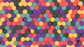 Abstract colorful hexagons pattern and texture background for design.3d rendering. Abstract colorful hexagons pattern and texture background vector illustration