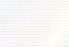 Abstract colorful hexagons seamless pattern on white background and texture vector illustration
