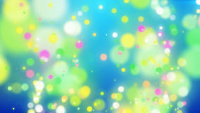Abstract Colorful Holiday particles background. 3d illustration. Abstract Colorful Holiday particles background. Blurred abstract backdrop with spots Stock Photo