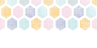 Abstract colorful honeycomb fabric textured horizontal seamless pattern background Royalty Free Stock Photography