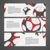 Abstract colorful horizontal banners. Vector illustration Stock Photography