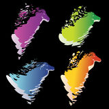 Abstract colorful horse head symbol. Abstract colorful horse head, symbols and icons Stock Photo