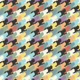 Abstract colorful houndtooth pattern background Stock Images