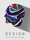 Abstract colorful human head background, creative concept, modern design. Vector Royalty Free Stock Images