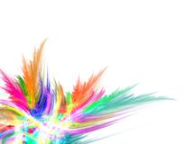 Abstract colorful illustration. Abstract colorful fractal wavy illustration Royalty Free Stock Photo