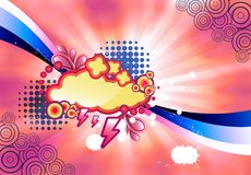 Abstract colorful illustration Stock Photography