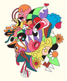Abstract colorful illustration. Royalty Free Stock Photography