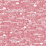 Abstract colorful image made from words which. Relate with summer and holiday Stock Image