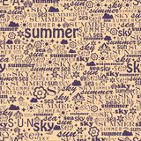 Abstract colorful image made from words which. Relate with summer and holiday Royalty Free Stock Photo
