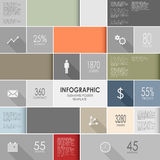 Abstract colorful info graphic elements poster tem